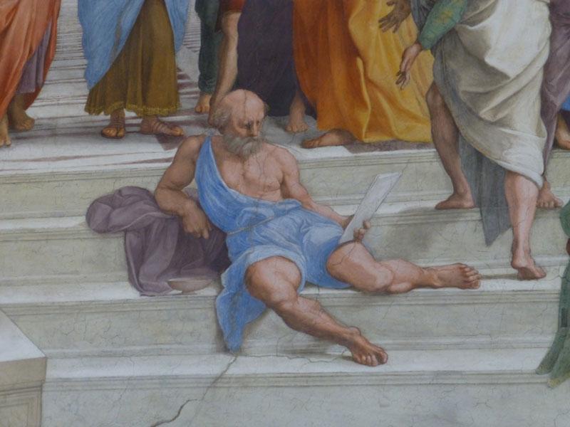 Diogène de Sinope par Raphaël musée du Vatican